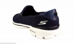 Skechers GOWalk 3 navy & white available to try and buy from our shop on the Hampshire Berkshire border near Newbury, Winchester Andover and Basingstoke.